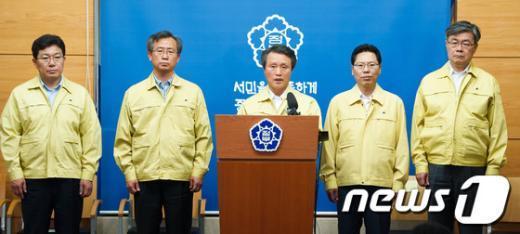 [사진]화물연대 총파업 담화문 발표하는 권도엽 국토부 장관