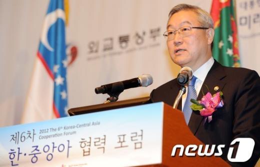 [사진]김성환 외교부장관의 기조연설