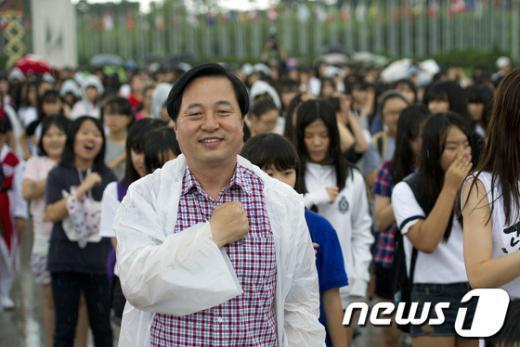 [사진]김두관 전 지사 '독도는 우리땅'