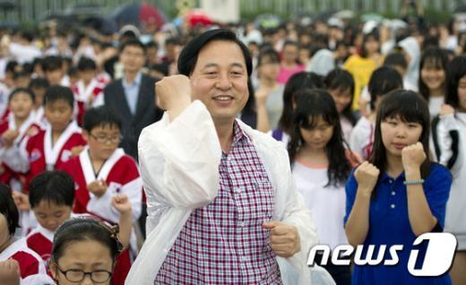 [사진]김두관 전 지사, 독도사랑 댄스!