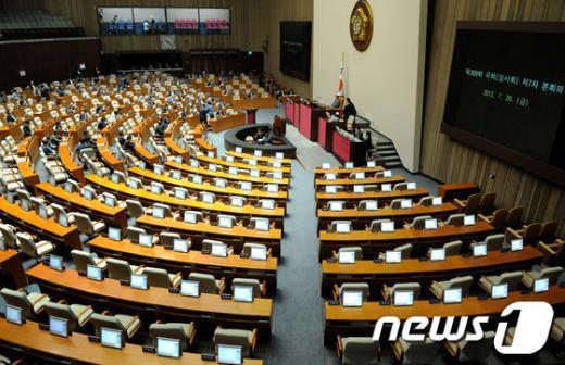 [사진]본회의 연기