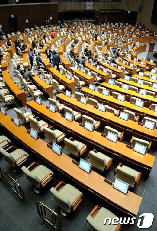 [사진]민주당 불참