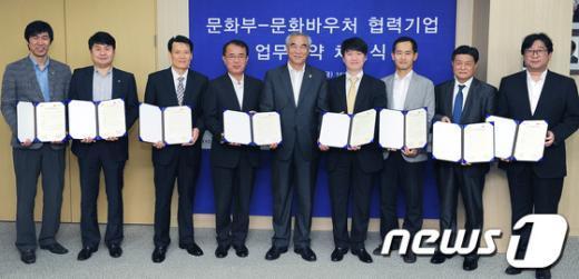 [사진]문화부-문화바우처 협력기업과 업무협약