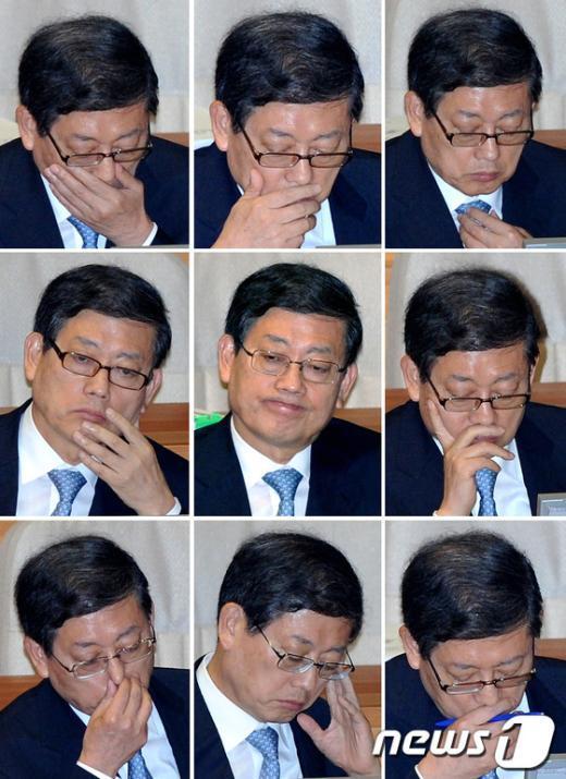 [사진]해임건의안 상정, 김황식 총리의 표정
