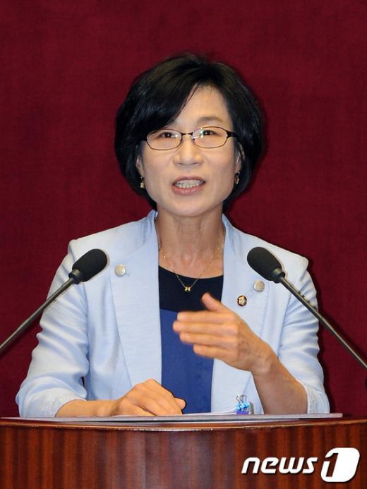 [사진]통합진보당 김제남 의원, 대정부 질문