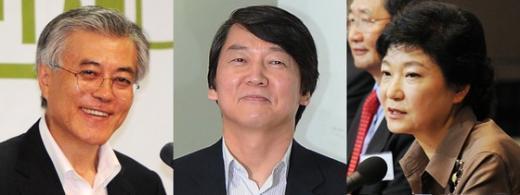 문재인 안철수 박근혜 News1 정윤경 기자