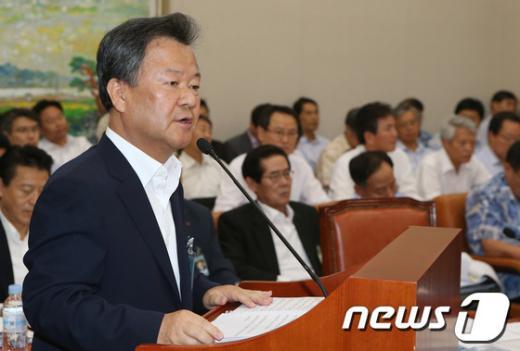 [사진]업무보고 하는 김중겸 한국전력공사 사장