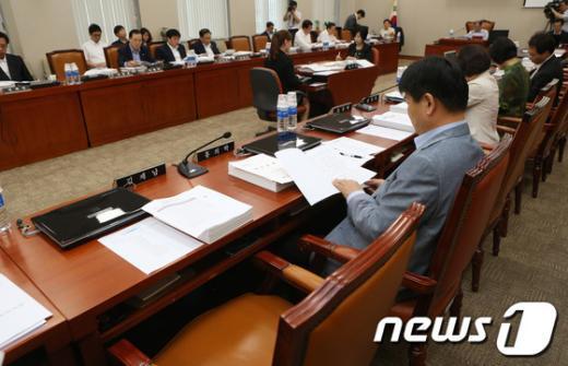 [사진]김제남 의원의 빈 자리