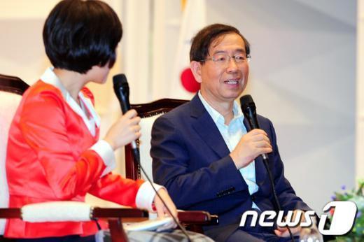 [사진]아르바이트 대학생들 만난 박원순 시장
