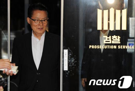[사진]검찰 조사 마친 박지원