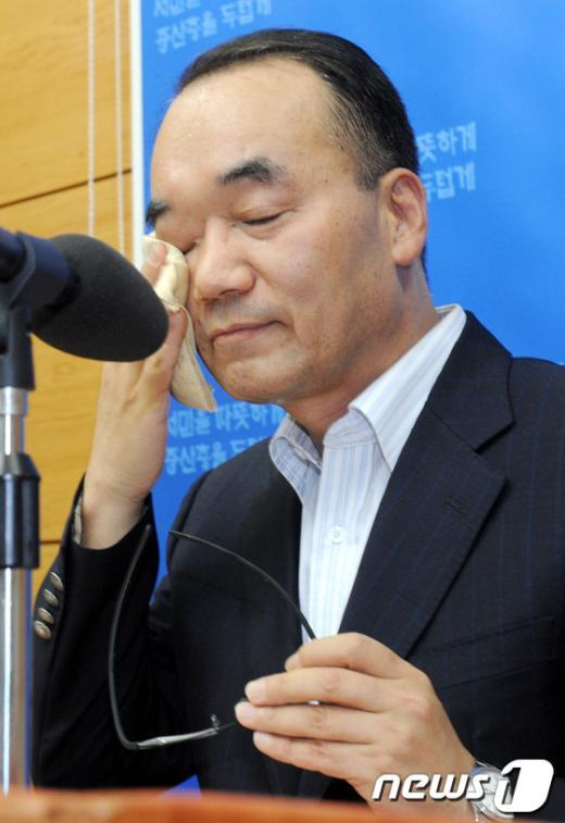 [사진]박재완, '진땀나네'