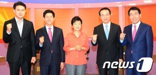 [사진]새누리당, 청주방송국서 대선경선 후보 초청 토론