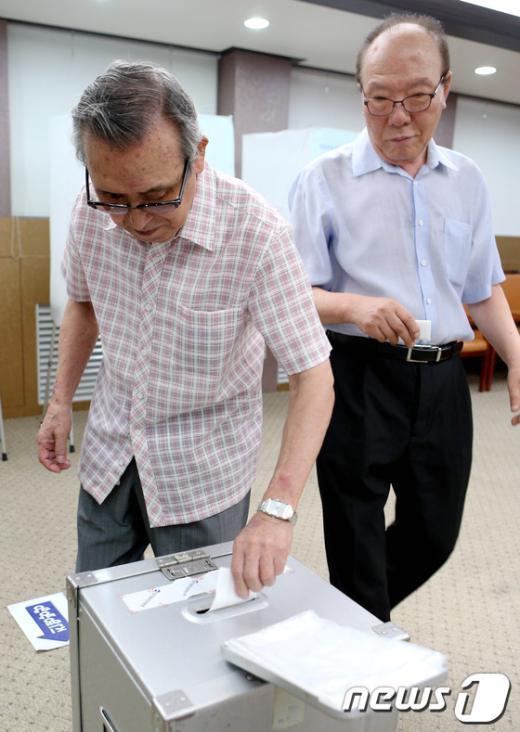 [사진]새누리당 선거인단의 선택은?