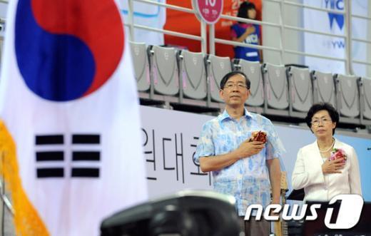 [사진]박원순 시장, YWCA 90주년 전국회원대회 참석