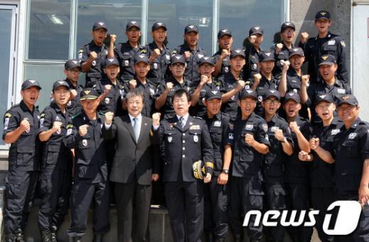 [사진]독도 방문한 맹형규 행안부 장관