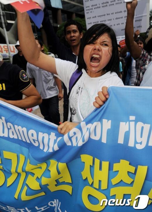 [사진]뿔난 이주노동자들