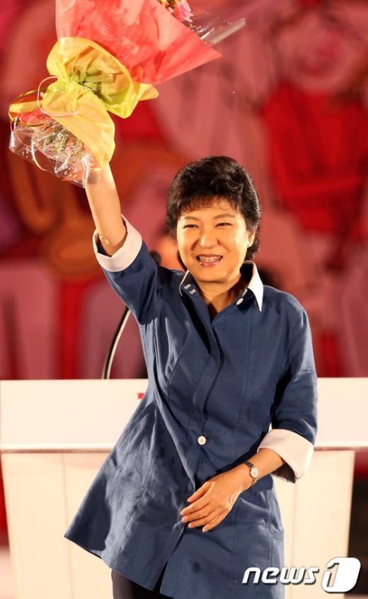 [사진]'박근혜의 미소'