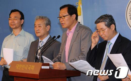 [사진]'5.24 조치해제 촉구' 기자회견