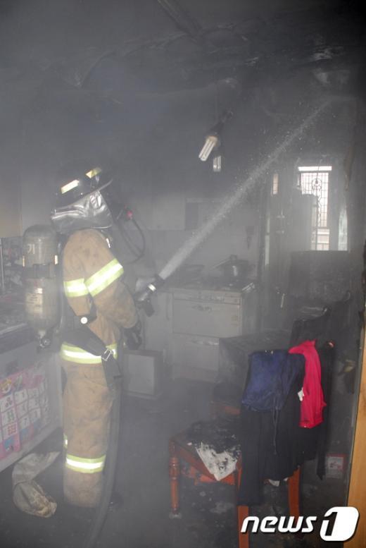 [사진]금천구 아파트 화재발생