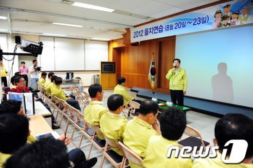 [사진]유덕열 동대문구청장, 을지연습 실시 만전 당부