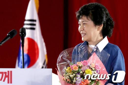 [사진]새누리당, 박근혜 대선후보 선출