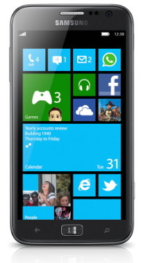 ↑삼성전자 윈도폰8 '아티브S'.