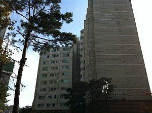 ↑금호동4가 서울숲푸르지오 아파트.  <br /> <br />