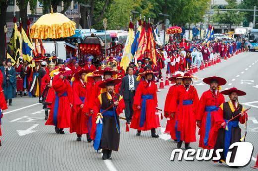 [사진]사직대제 봉행위한 어가행렬