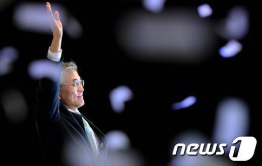 [사진]문재인, 민주당 18대 대통령 후보 선출
