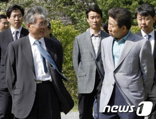 [사진]노무현 전 대통령 마지막 비서실장 문재인