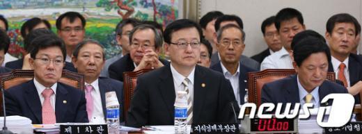 [사진]지경부 장관, 국회 지경위 전체회의 출석