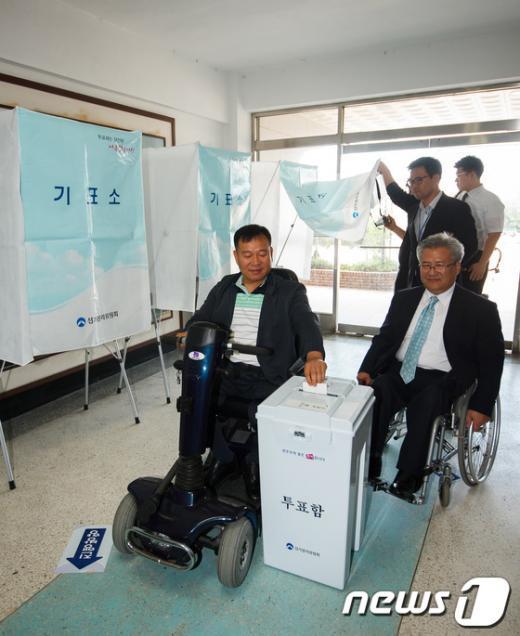 [사진]장애인 투표편의 시설 실태 점검