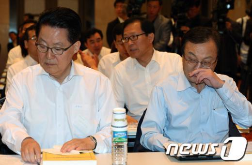 [사진]민주 의원단 워크숍, '대선전략 논의'