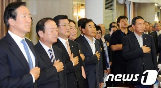 [사진]이재오 참여 '분권형 개헌추진 국민연합' 발기인 대회