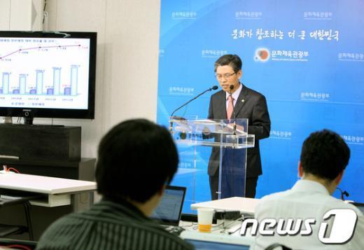 [사진]곽영진 1차관, '2013년 문광부 예산기금 운용계획'