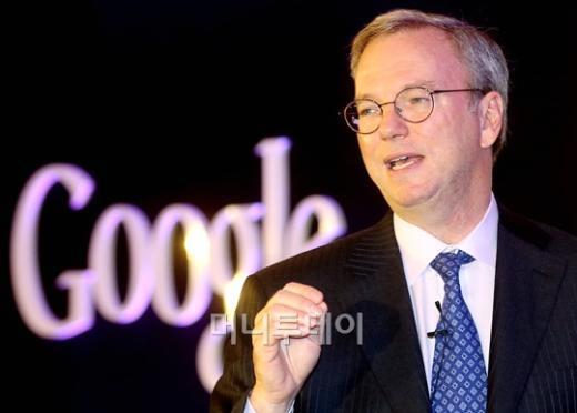 ↑에릭 슈미트 구글 회장.