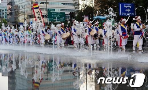 [사진]광화문광장에서 펼쳐진 전통 길놀이