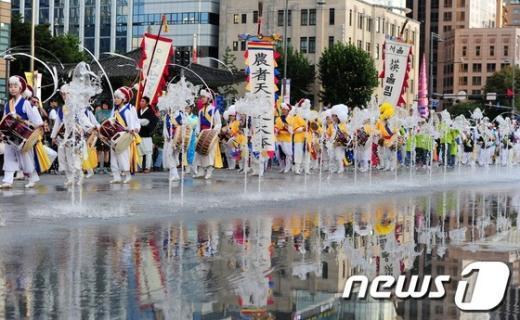 [사진]광화문광장서 펼쳐진 전통 길놀이