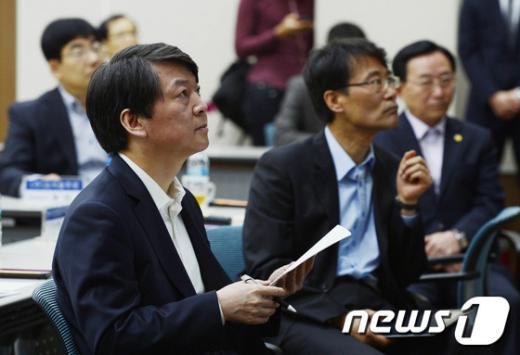 [사진]한국산업단지공단 방문한 안철수 후보