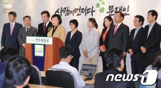 [사진]문재인 '담쟁이캠프' 공동선대위원장