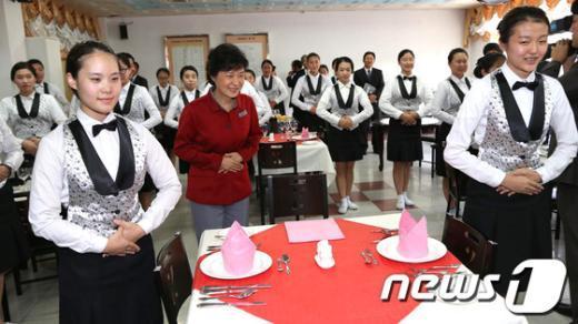 [사진]여고생 속 박근혜 후보