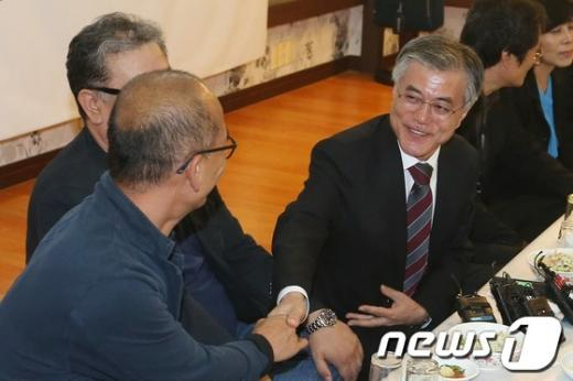 [사진]영화인들 만난 문재인 후보