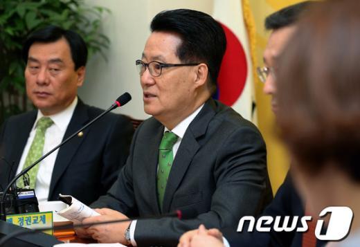 [사진]박지원, 국정감사 상황점검회의 모두발언