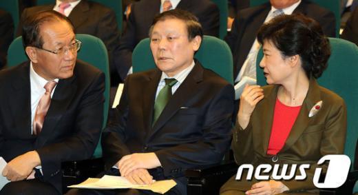 [사진]박근혜-조순형-황우여 한자리에