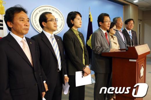 [사진]민주, 정수장학회 증인채택 요구