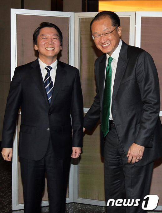 [사진]세계은행 총재 만난 안철수