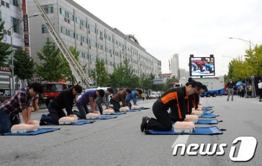 [사진]중랑소방서, 재난대비 긴급구조 종합훈련 실시
