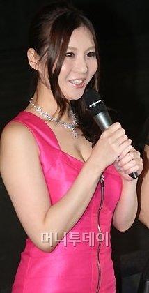 지난 8월 영화 홍보차 방한한 일본 AV스타 타츠미 유이.
