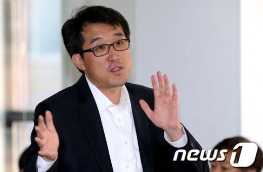 무소속 안철수 후보 캠프 유민영 대변인. 2012.10.17/뉴스1  News1 박정호 기자