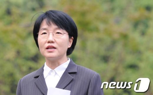 무소속 안철수 대선후보 선거캠프의 박선숙 공동선거대책본부장  News1 송원영 기자